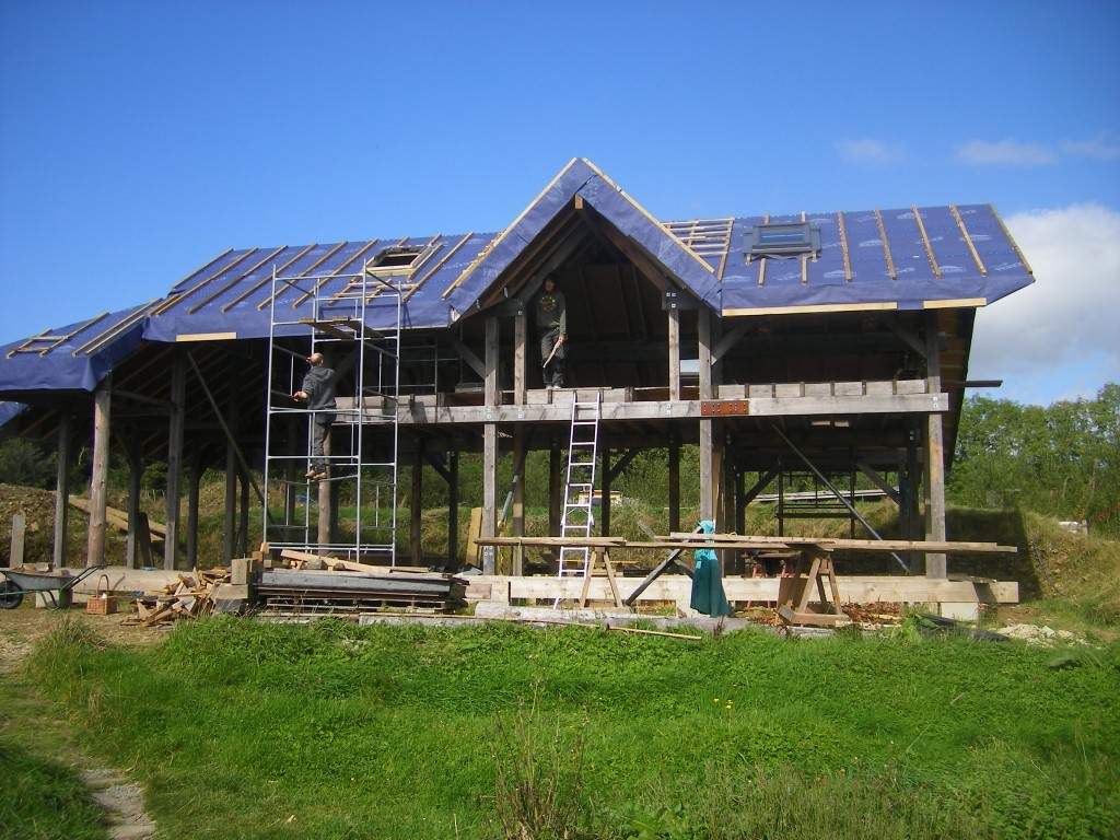 Katy and Leanders timber frame home Lammas Ecovillage Bright Green Futures