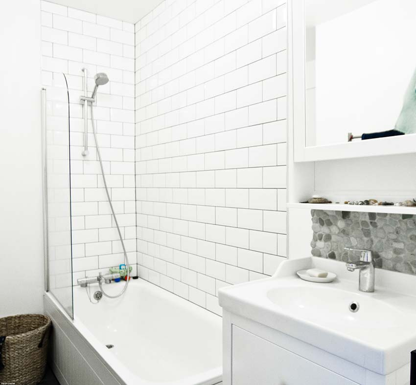 Michelle Asher's Bathroom Bright Green Futures Case Study