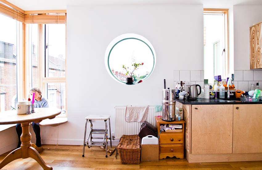 Michelle Asher's Kitchen and Corner Living Space Bright Green Futures Case Study