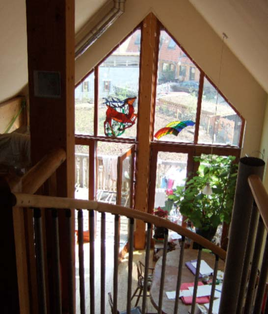 Steffie's Living Space View From Staircase The Yard Bright Green Futures Case Study