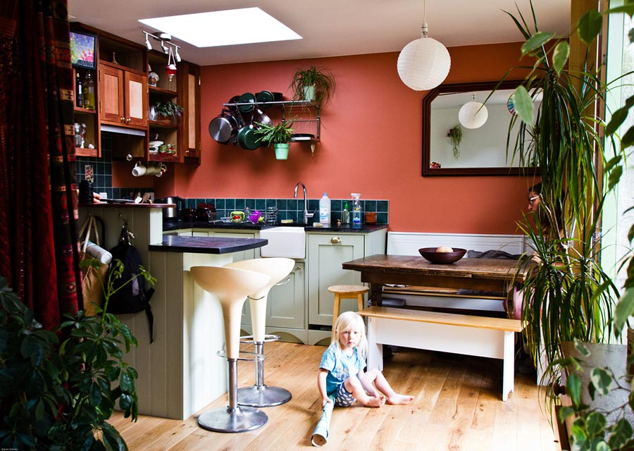 Celine and John's Kitchen and Dining Space Bright Green Futures Case Study