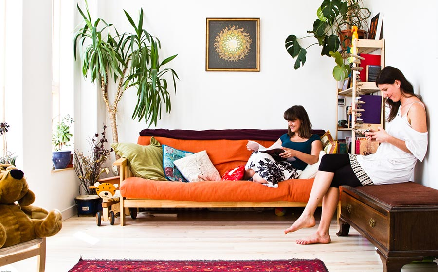 Indi and Pete's Living Space Being Enjoyed Bright Green Futures Case Study