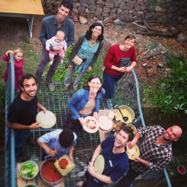 Communal Dinner, Community housing, Self-build Workshop, Bright Green Futures, Steffie